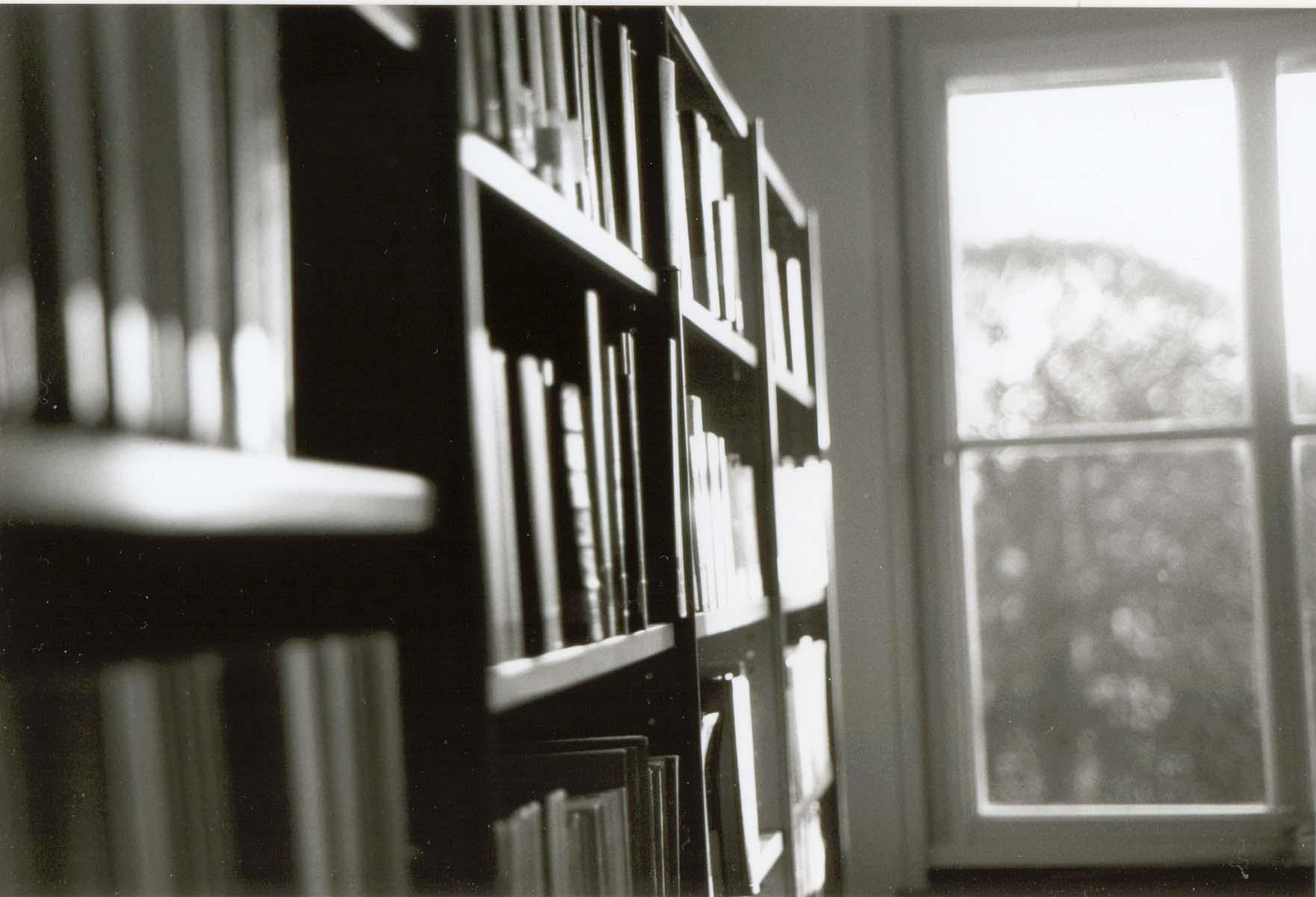 Dusty bookshelves at Utrecht University Library (photo by Andrea Hajek)